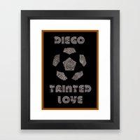 Diego Maradona - Tainted Love Framed Art Print