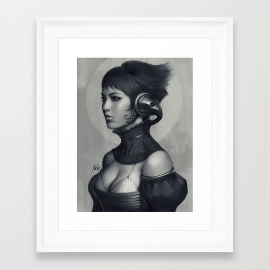 Pepper Grayscale II Framed Art Print