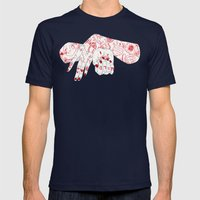 Wild and Calm Mens Fitted Tee Navy SMALL