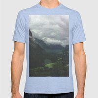 Beyond Mens Fitted Tee Tri-Blue SMALL