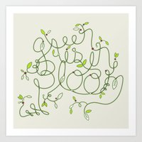 Green Is In Bloom Art Print