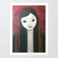 in rose wood Art Print