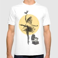 Ballerina Fish Mens Fitted Tee White SMALL