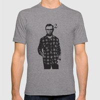 Lincoln Squared Mens Fitted Tee Athletic Grey SMALL