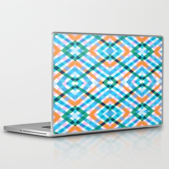 The rustic link based on tenun ikat Laptop & iPad Skin