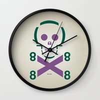 HELLvetica Wall Clock