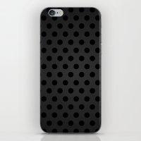 BlackPolka Dots G61 iPhone & iPod Skin