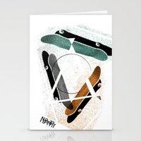 Skatestriangles Stationery Cards