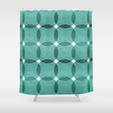 Overlapped Circle Pattern 6 Shower Curtain