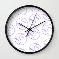 Rich / Boring (White) Wall Clock