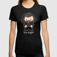 The Knight Womens Fitted Tee Tri-Black SMALL