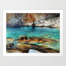 EYGENIA LOGVYNOVSKA , Sea Rocks Art Print