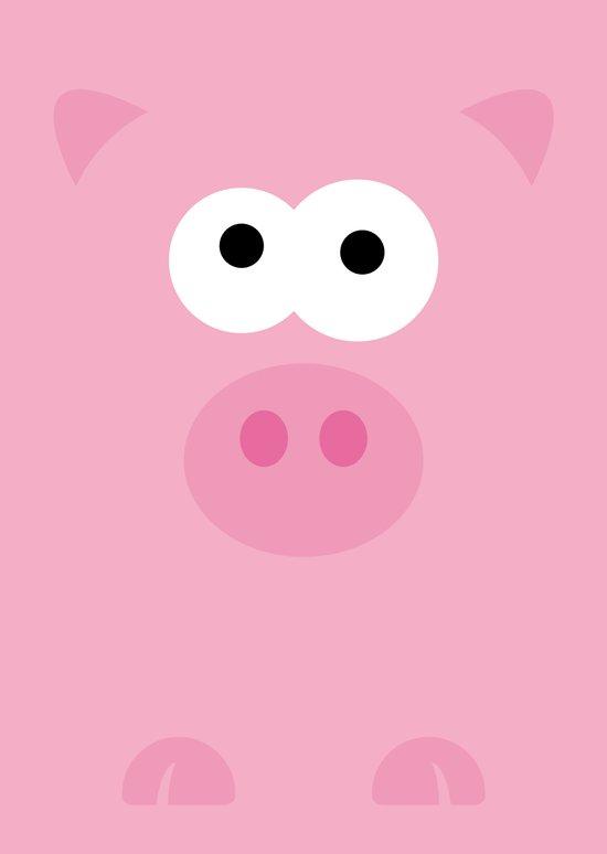 Minimal Pig Art Print