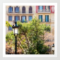 Spring time in Barcelona Art Print