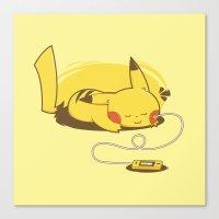 Pikacharger Canvas Print