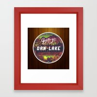 Greetings from Dan Lake CA Framed Art Print