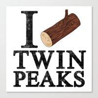 I Love Twin Peaks (Log) Canvas Print