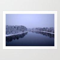 Österdal River Art Print