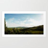 Tuscan Hills 2 Art Print