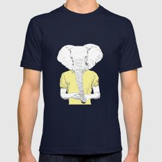 Wild Nothing II Mens Fitted Tee Navy SMALL