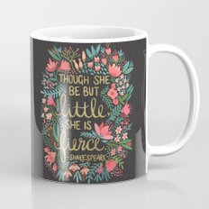 Little & Fierce on Charcoal Mug