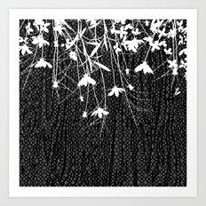 white wildflowers Art Print