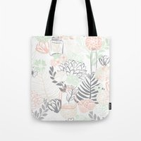 Cucumber Peaches and Cream Mason Jar wedding Tote Bag