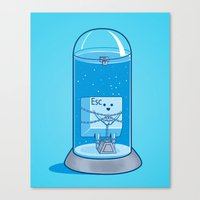 The Great Escape Artist Canvas Print