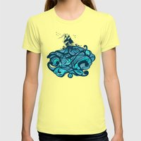 Upon The Sea Womens Fitted Tee Lemon SMALL