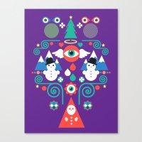 Christmas - purple pop Canvas Print