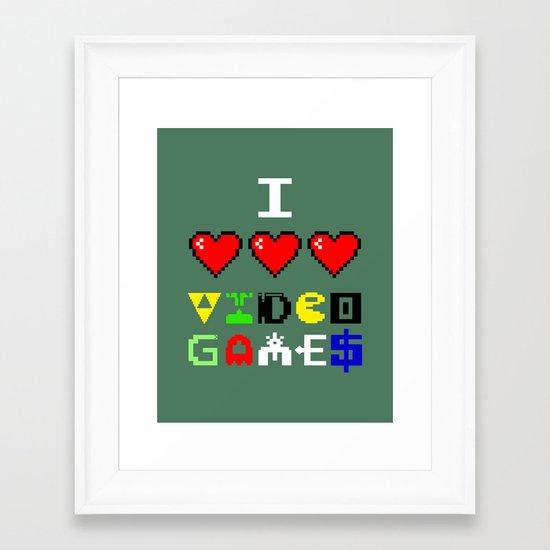 I 3 up video games Framed Art Print