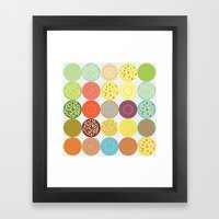 Circle Pattern Framed Art Print