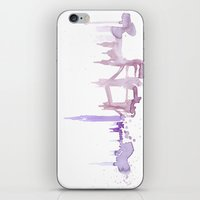 Watercolor landscape illustration_London iPhone & iPod Skin