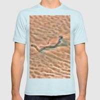 Abstract Driftwood on the sand in Queensland, Australia Mens Fitted Tee Light Blue SMALL
