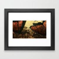 Diorama :: Rhinos Framed Art Print