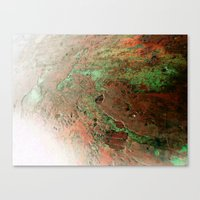 A Quick Visit To Mars! Canvas Print