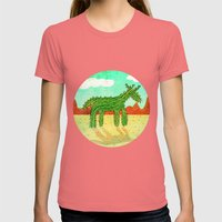 Cactus Unicorn Womens Fitted Tee Pomegranate SMALL