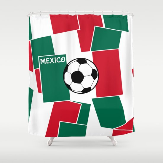 Flag of Mexico Football Shower Curtain by Mailboxdisco | Society6