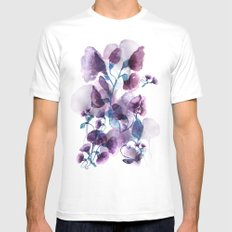 Weaving shadows SMALL White Mens Fitted Tee
