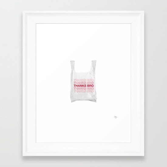 Douche Plastic Bag Framed Art Print