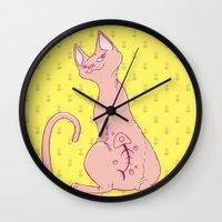Cats with Tats Wall Clock