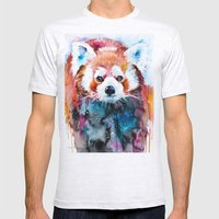 Red Panda Mens Fitted Tee Ash Grey SMALL