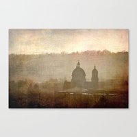 Cityscape - late afternoon Canvas Print