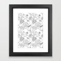 Ocarina Patterns Framed Art Print