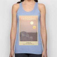 Retro Travel Poster Series - Star Wars - Tatooine Unisex Tank Top