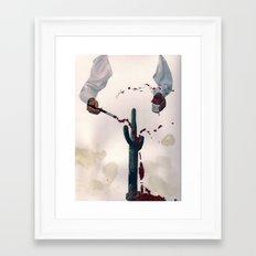 bleeding cactus  Framed Art Print