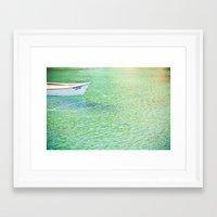The Lagido Boat Framed Art Print