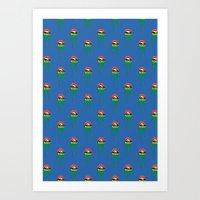 Princess-Frog Pattern Art Print