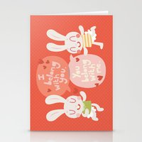 'I belong with you' Bunny Valentines Day Card Stationery Cards