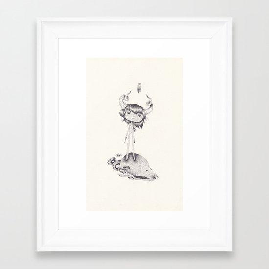 this girl Framed Art Print